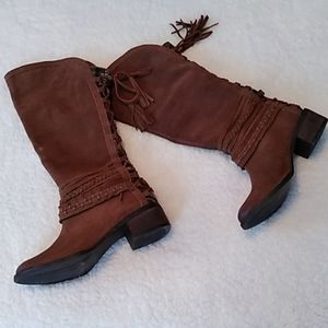 Naughty monkey brown suede boots